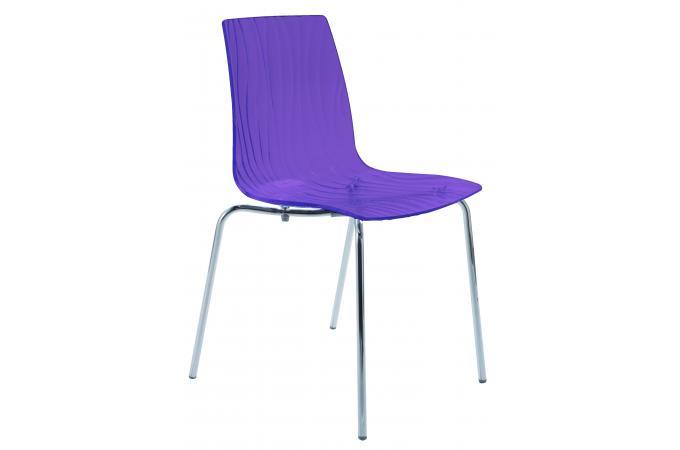 chaise design transparente violette arc design pas cher