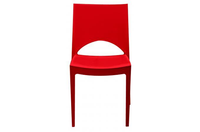 Chaise design rouge effet laqu venise chaise design pas for Chaise rouge design pas cher