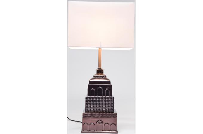 lampe building kare design abat jour blanc lampe poser. Black Bedroom Furniture Sets. Home Design Ideas