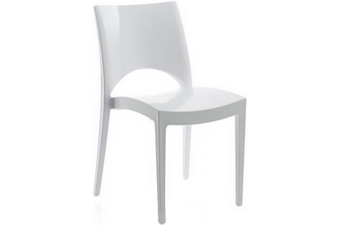chaise contemporaine design blanche arlequin chaise design pas cher. Black Bedroom Furniture Sets. Home Design Ideas