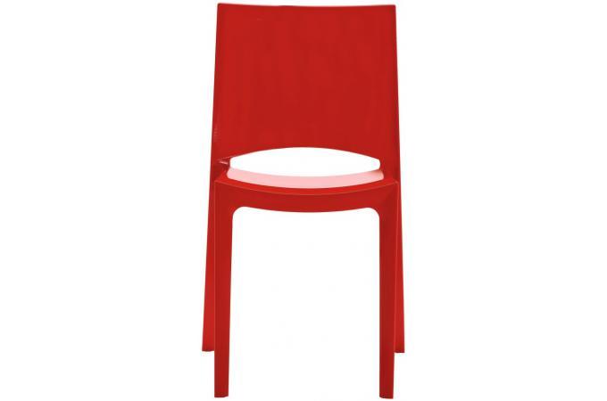 Chaise rouge poupee design pas cher sur sofactory for Chaise factory rouge
