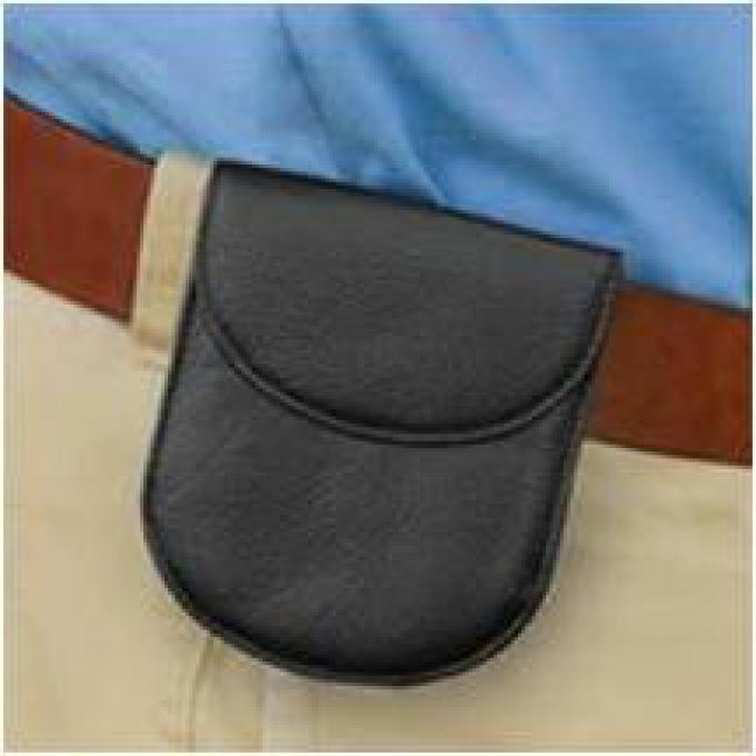 porte monnaie de ceinture cuir de vachette noir bouton pression mencorner