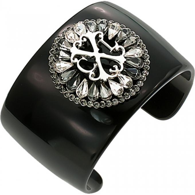 bracelet manchette baroque noire christian lacroix bijoux christian lacroix bijoux winaretta. Black Bedroom Furniture Sets. Home Design Ideas