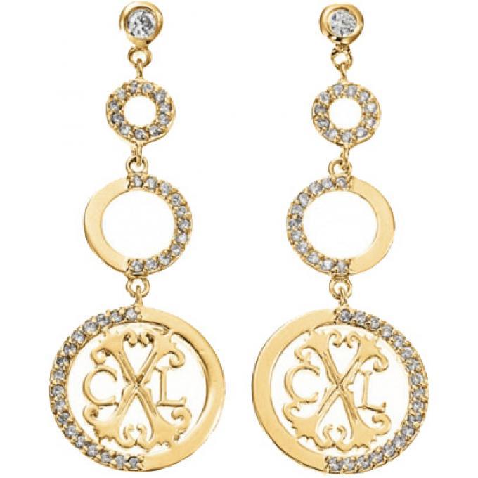 boucles d 39 oreilles pendantes cercles dor es christian lacroix bijoux christian lacroix. Black Bedroom Furniture Sets. Home Design Ideas