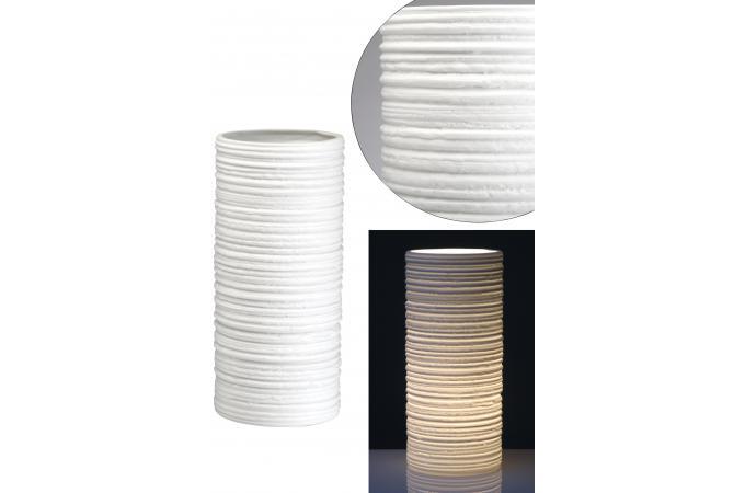 lampe de table blanche en c ramique loanna lampe poser pas cher. Black Bedroom Furniture Sets. Home Design Ideas
