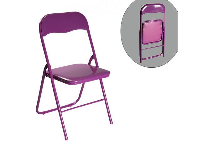 Chaise pliante aubergine estrada chaise pliante pas cher - Chaises pliante pas cher ...