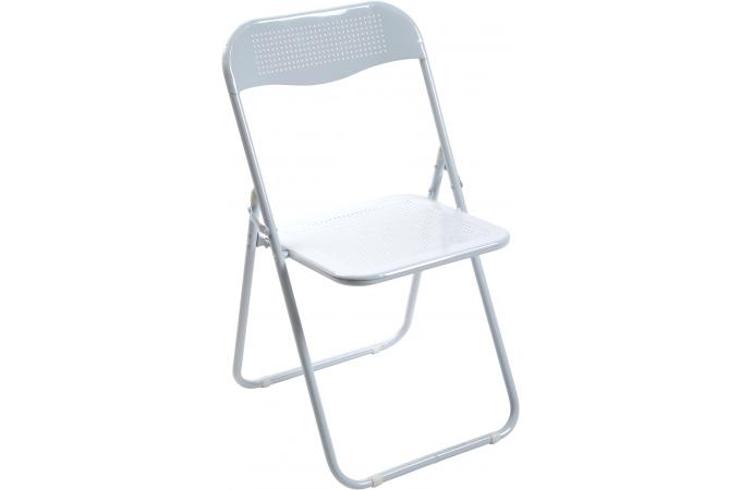 chaise pliante blanche en m tal cassada chaise pliante pas cher. Black Bedroom Furniture Sets. Home Design Ideas