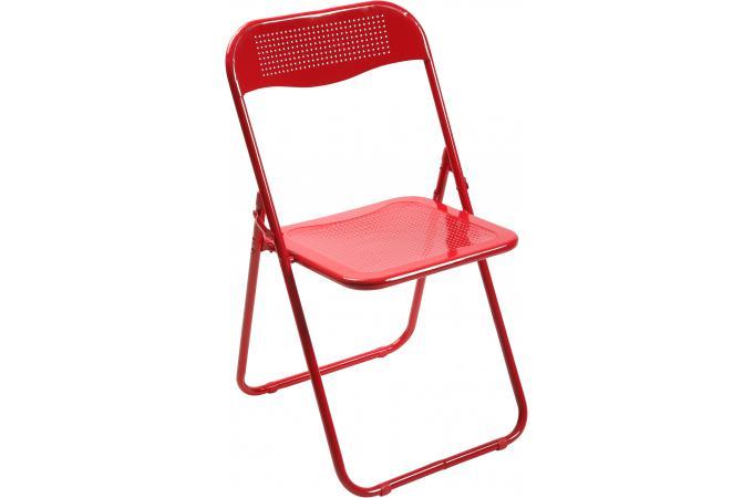 chaise pliante rouge en m tal cassada chaise pliante pas cher. Black Bedroom Furniture Sets. Home Design Ideas