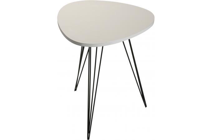table auxiliaire vm blanche en bois vigoth table d 39 appoint pas cher. Black Bedroom Furniture Sets. Home Design Ideas