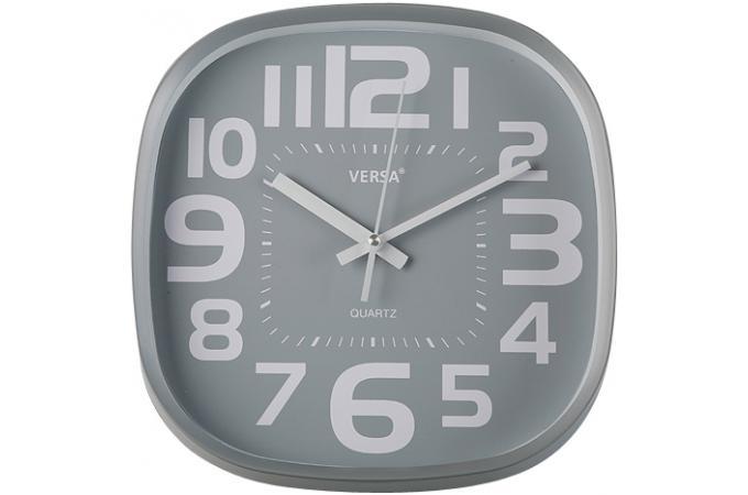 Horloge grise en polypropyl ne ventures horloge design pas cher for Horloge grise
