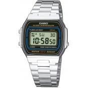 Casio - Montre Casio Retro Vintage A164WA-1VES - Montre homme rectangulaire