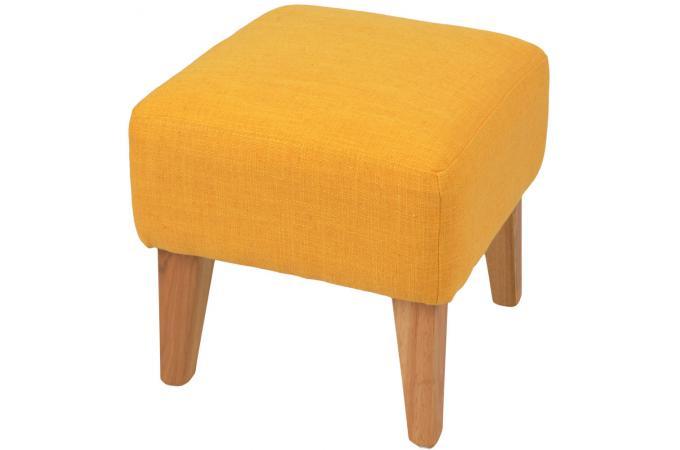 repose pieds jaune en toile charlie petit tabouret pas cher. Black Bedroom Furniture Sets. Home Design Ideas