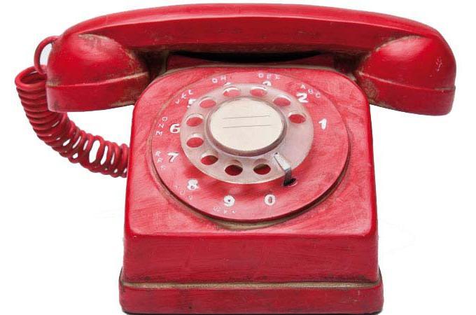 Tirelire kare design t l phone vintage rouge tirelire for Objet deco design rouge