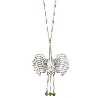 Collier et pendentif Coque Swarovski Argent - Amélie Blaise - Amélie Blaise