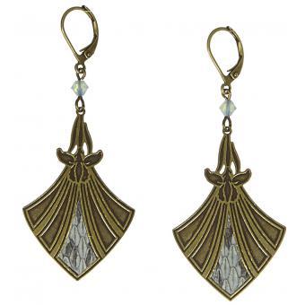 Boucles d'oreilles Pendantes Serpent Bronze - Amélie Blaise - Amélie Blaise