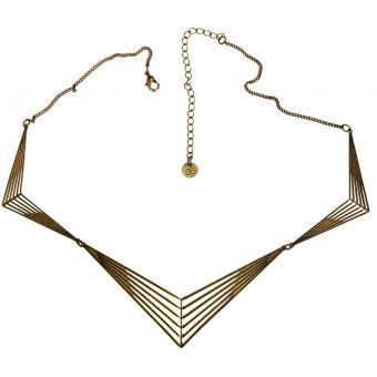 Collier Vieux Bronze Géométrique - Amélie Blaise - Amélie Blaise
