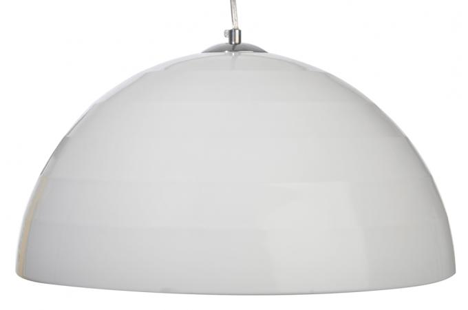 lampe pendante blanche en aluminium bianca lustre suspension pas cher. Black Bedroom Furniture Sets. Home Design Ideas