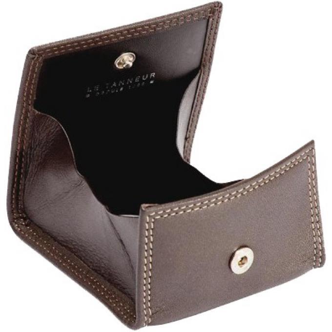 Porte monnaie boite touraine cuir le tanneur cadeaux maroquinerie homme - Porte monnaie lacoste homme ...