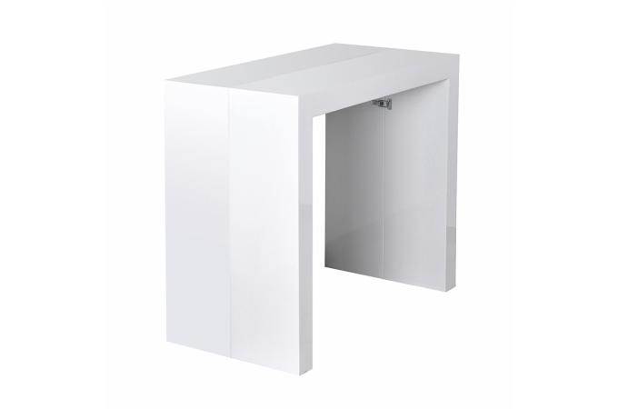 table console extensible 5 rallonges blanc. Black Bedroom Furniture Sets. Home Design Ideas