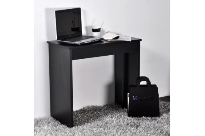 petit table console noire 3 rallonges 145 cm miami table console pas cher. Black Bedroom Furniture Sets. Home Design Ideas
