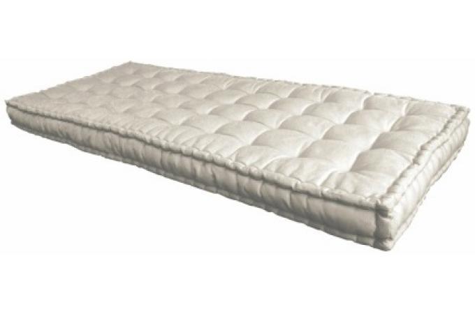 matelas futon 90x190 cm cru 100 coton mara matelas pas cher. Black Bedroom Furniture Sets. Home Design Ideas