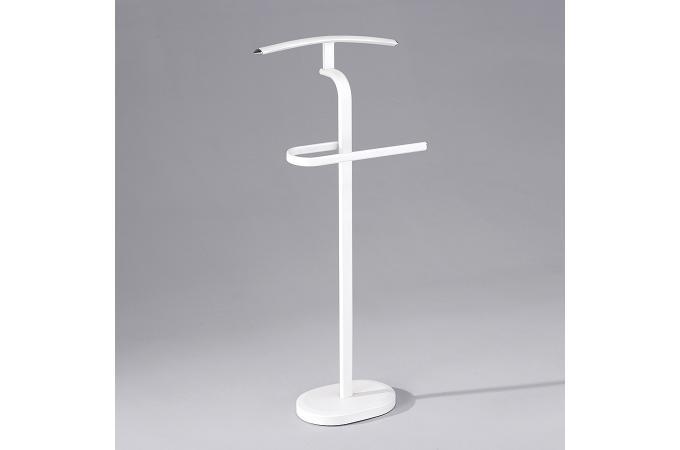 Valet de chambre en acier blanc harry meuble de rangement pas cher - Valet de chambre pas cher ...