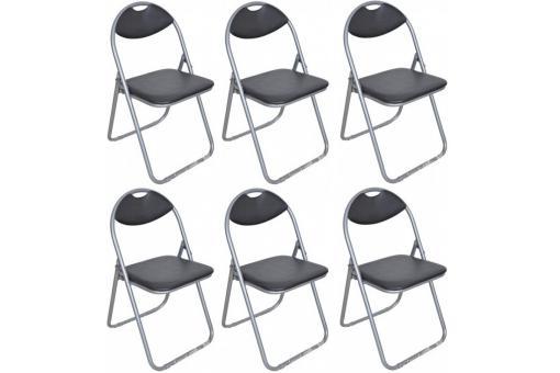 Lot de 6 chaises pliantes noires ipag chaise design pas cher - Lot de chaise pas cher ...