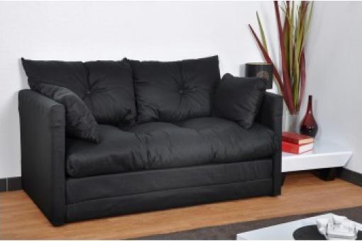 petit canap convertible noir 2 places marco canap convertible pas cher. Black Bedroom Furniture Sets. Home Design Ideas