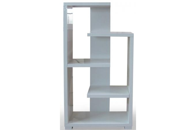 Etag re moderne blanc brillant triange etag re pas cher for Meuble etagere pas cher