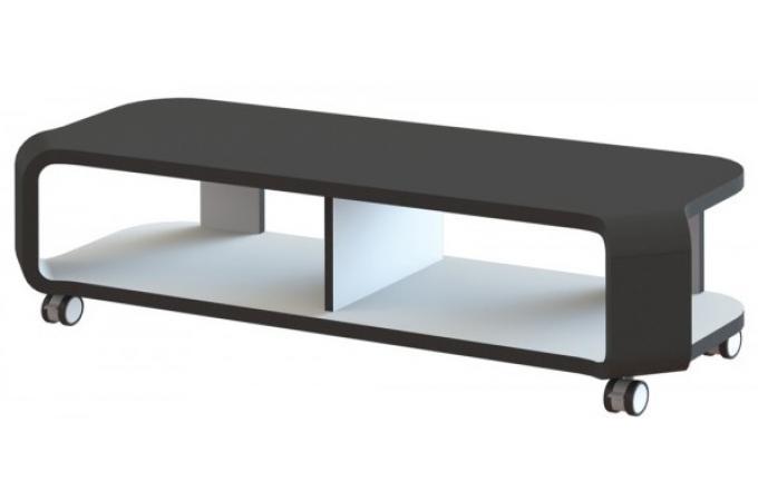 meuble tv design et mobile noir et blanc pelma meuble tv pas cher. Black Bedroom Furniture Sets. Home Design Ideas