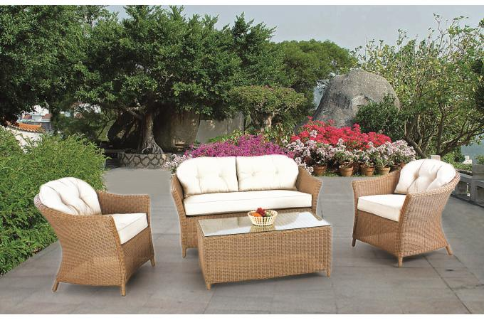 Salon de jardin whiteheaven en resine tressee for Leclerc meuble de jardin
