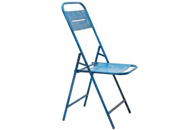 chaise pliante kare design bleue en m tal chaise pliante. Black Bedroom Furniture Sets. Home Design Ideas