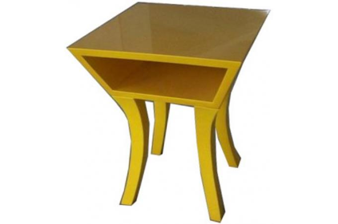 Table de chevet kare design jaune table de chevet pas cher for Table de chevet orientale