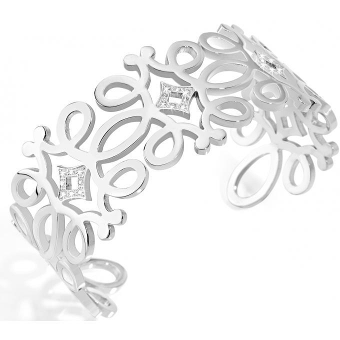 bracelet morellato saaj21 bracelet manchette arabesque argent femme bijoux morellato bijoux. Black Bedroom Furniture Sets. Home Design Ideas