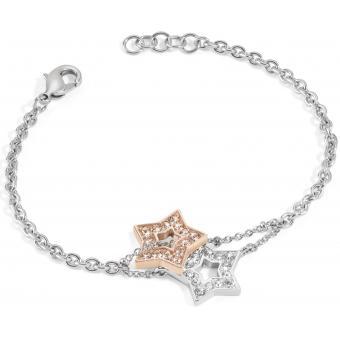 Bracelet Morellato SABG08 - Bracelet Etoiles bicolores Argent Femme - Morellato