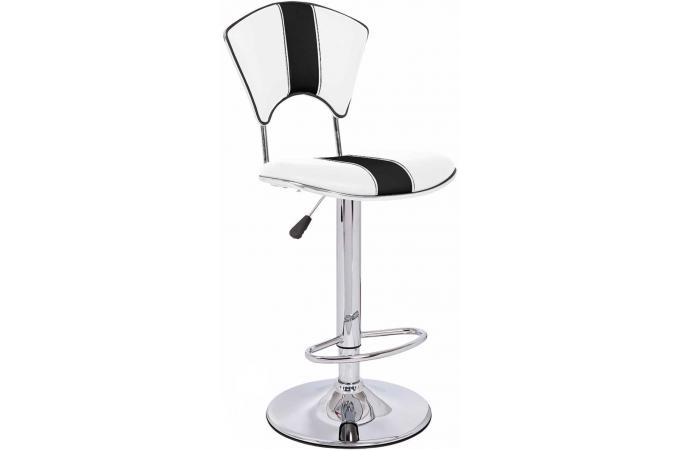 tabouret de bar blanc et noir en cuir galia tabouret de bar pas cher. Black Bedroom Furniture Sets. Home Design Ideas