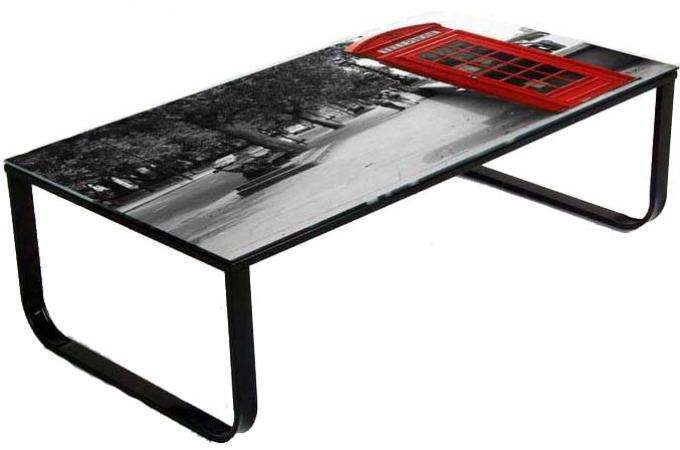 Table basse multicolore en verre london table basse pas cher - Table basse verre design pas cher ...