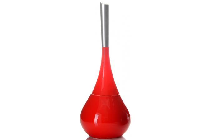 brosse de toilettes rouge en c ramique jada accessoire salle de bain pas cher. Black Bedroom Furniture Sets. Home Design Ideas