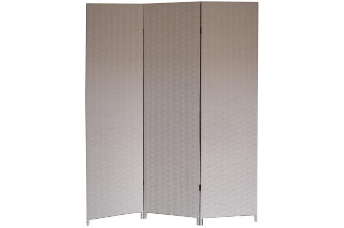 Paravent blanc en papier tress janelle paravent pas cher - Paravent papier ...