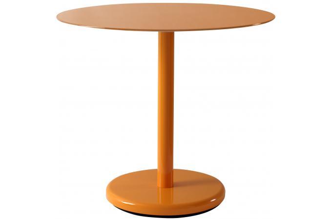 table d 39 appoint orange en fer ohanna table d 39 appoint pas cher. Black Bedroom Furniture Sets. Home Design Ideas