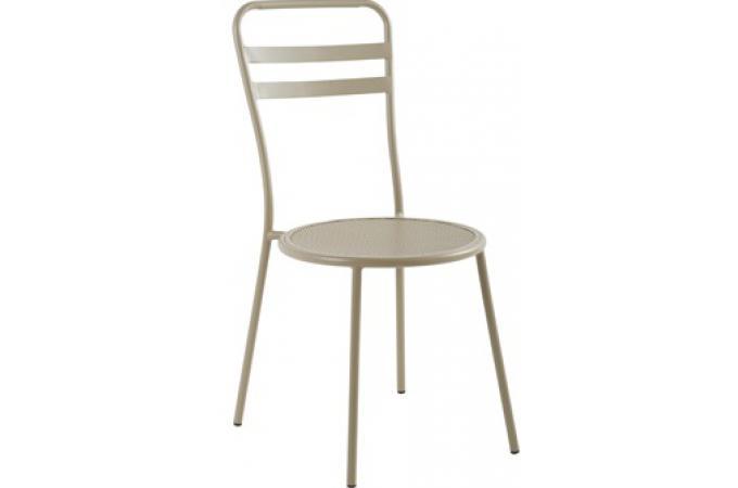 Chaise beige en m tal mar lie chaise design pas cher - Chaise beige pas cher ...