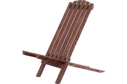 transat de jardin rouge en bois marie louise chaise. Black Bedroom Furniture Sets. Home Design Ideas