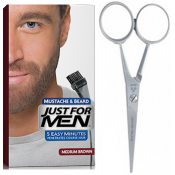 Just For Men - PACK COLORATION BARBE CHATAIN ET CISEAUX A BARBE - Ciseaux barbe