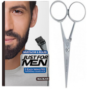 Just For Men - PACK COLORATION BARBE NOIR NATUREL ET CISEAUX A BARBE - Coloration barbe noir