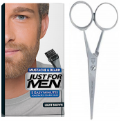 Just For Men - PACK COLORATION BARBE CHATAIN CLAIR ET CISEAUX A BARBE - Coloration homme chatain clair