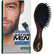 Just For Men - PACK COLORATION BARBE CHATAIN FONCE ET BROSSE À BARBE - Coloration homme chatain fonce