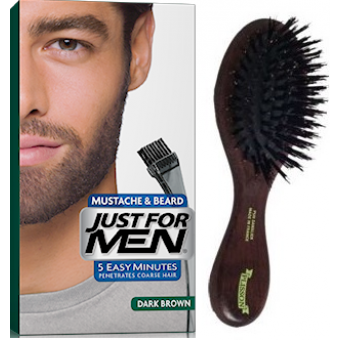 PACK COLORATION BARBE CHATAIN FONCE ET BROSSE À BARBE Just For Men
