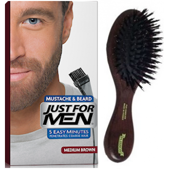 PACK COLORATION BARBE CHATAIN ET BROSSE À BARBE Just For Men