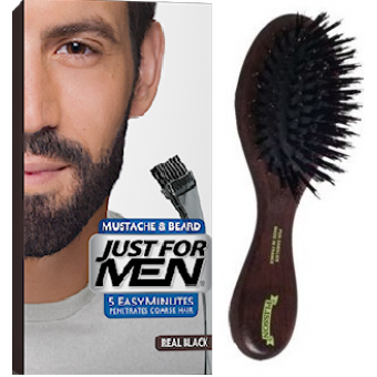 PACK COLORATION BARBE NOIR NATUREL ET BROSSE À BARBE Just For Men