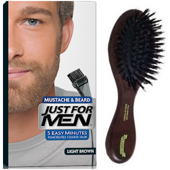 PACK COLORATION BARBE CHATAIN CLAIR ET BROSSE À BARBE Just For Men